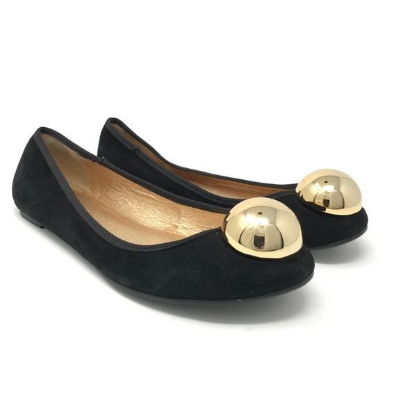 a49baa3abf0d kate spade Shoes - Kate Spade Flats Black With Gold Ball Detail Sz 8